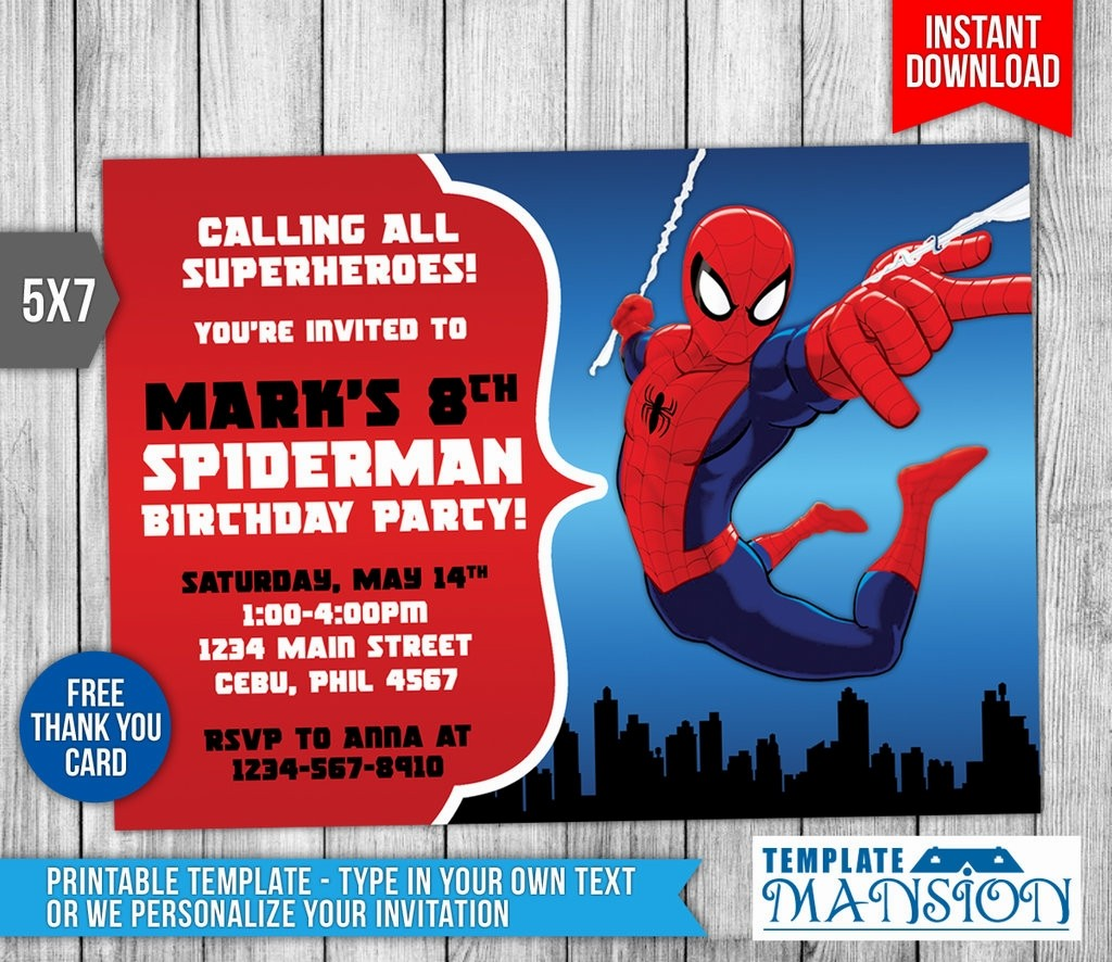 free printable spiderman birthday invitation templates ; invitation-template-superhero-inspirationalnew-20-best-spiderman-birthday-invitations-free-printable-invitation