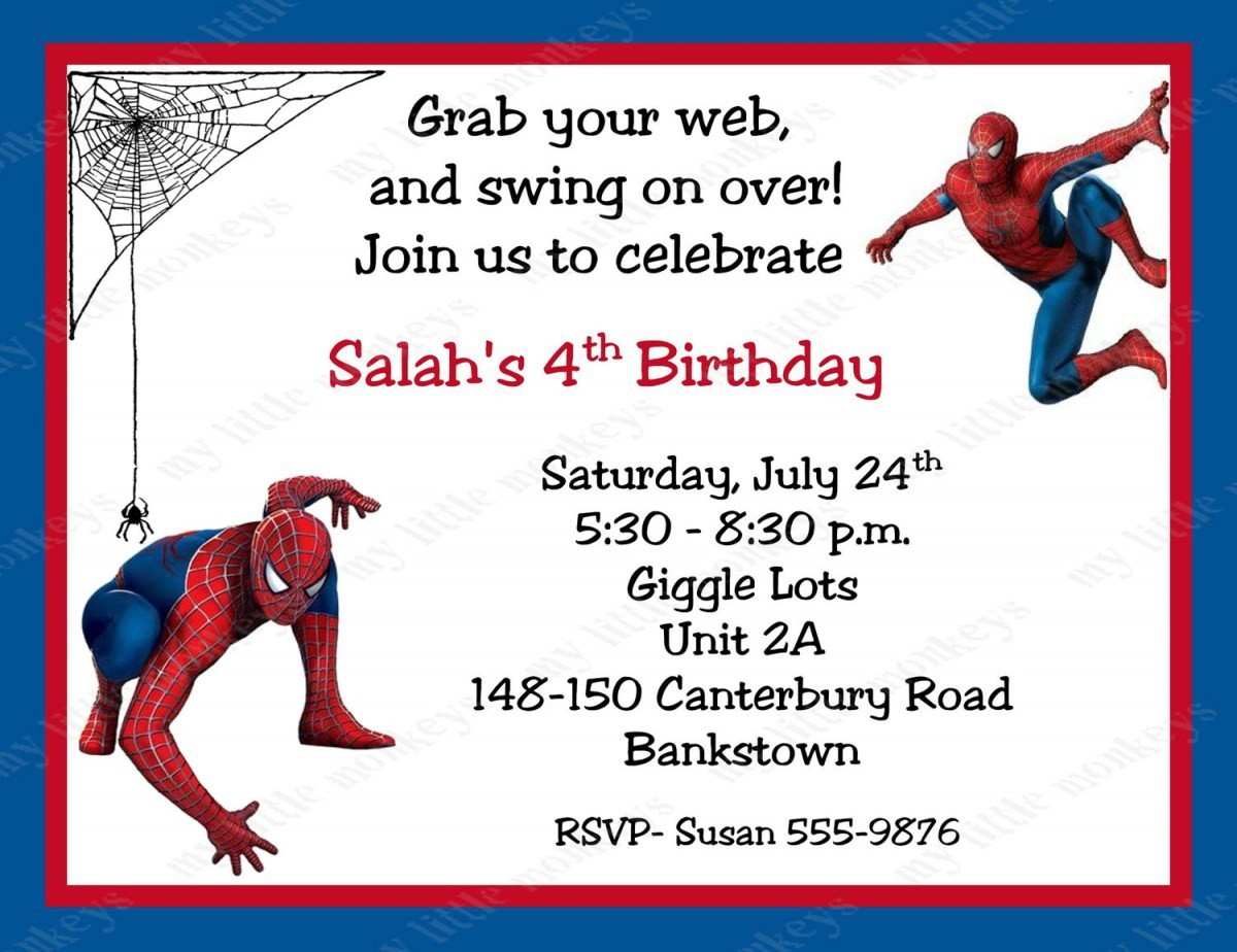 free printable spiderman birthday invitation templates ; invitation-template-superhero-inspirationalnew-spiderman-birthday-invitations-personalized-free-printable