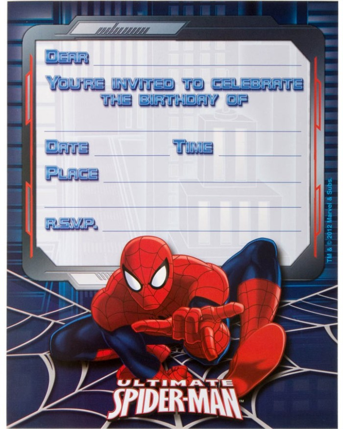 free printable spiderman birthday invitation templates ; spiderman-birthday-party-invitations-printable-free-impress-your-guests-with-these-spiderman-birthday-invitations