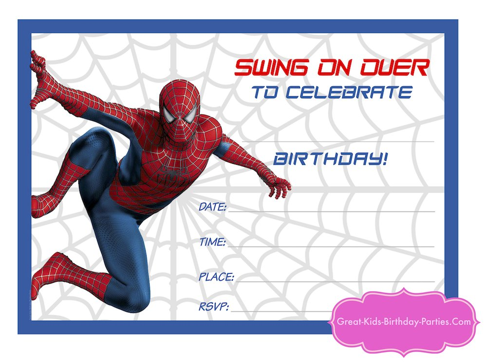 free printable spiderman birthday invitation templates ; superhero-printables-editable-spiderman-birthday-invitation