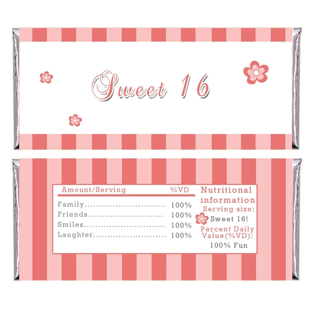 free printable sweet 16 birthday invitation templates ; Remarkable-Sweet-Sixteen-Party-Invitations-with-Striped-Orange-White-Background-Colors-and-Cute-Small-Flowers-Arts