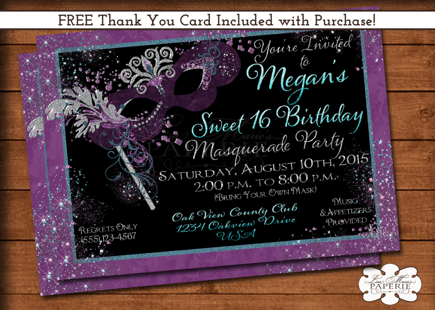 free printable sweet 16 birthday invitation templates ; il_fullxfull