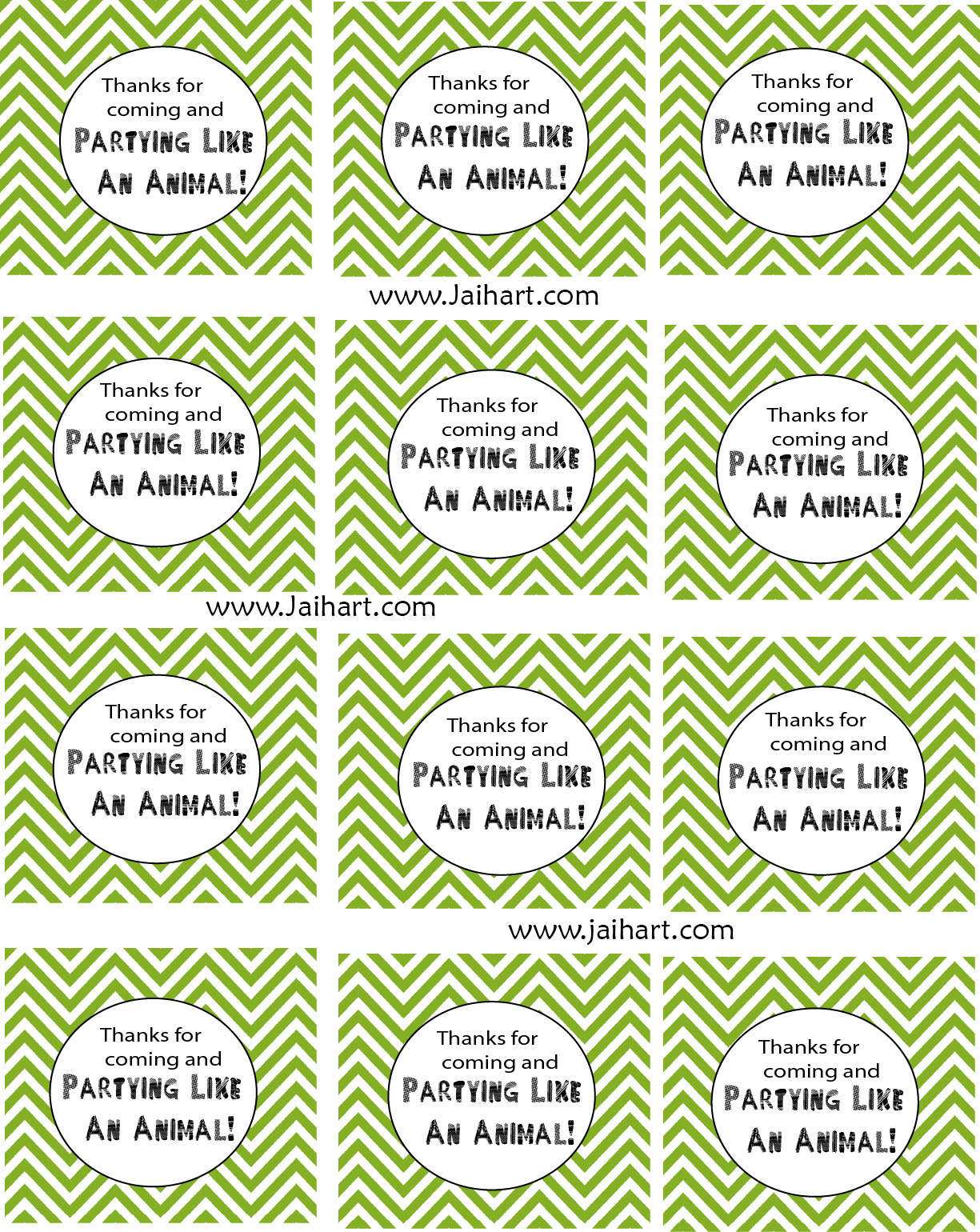 free printable thank you tags for birthday favors ; PartyLikeAnAnimalPartyFavor+Label