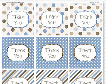 free printable thank you tags for birthday favors ; il_340x270