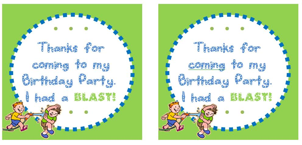 free printable thank you tags for birthday favors ; water+thank+you