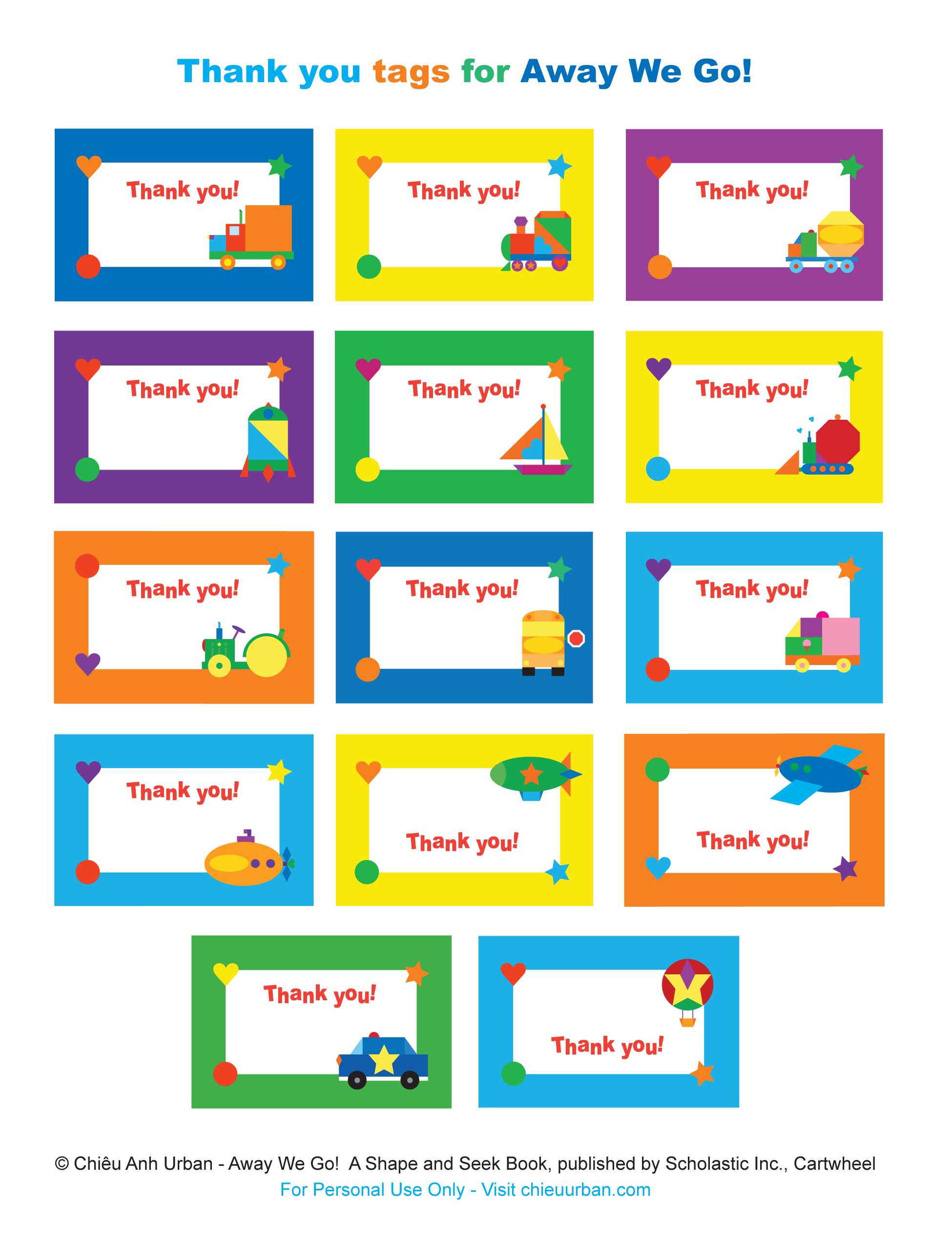 free printable thank you tags for birthdays ; Away-We-Go-thank-you-1