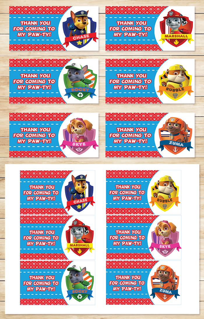 free printable thank you tags for birthdays ; Paw-Patrol-Party-Tags-Display-Combo
