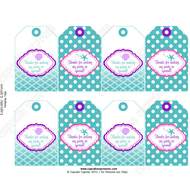 free printable thank you tags for birthdays ; arielhangingtags
