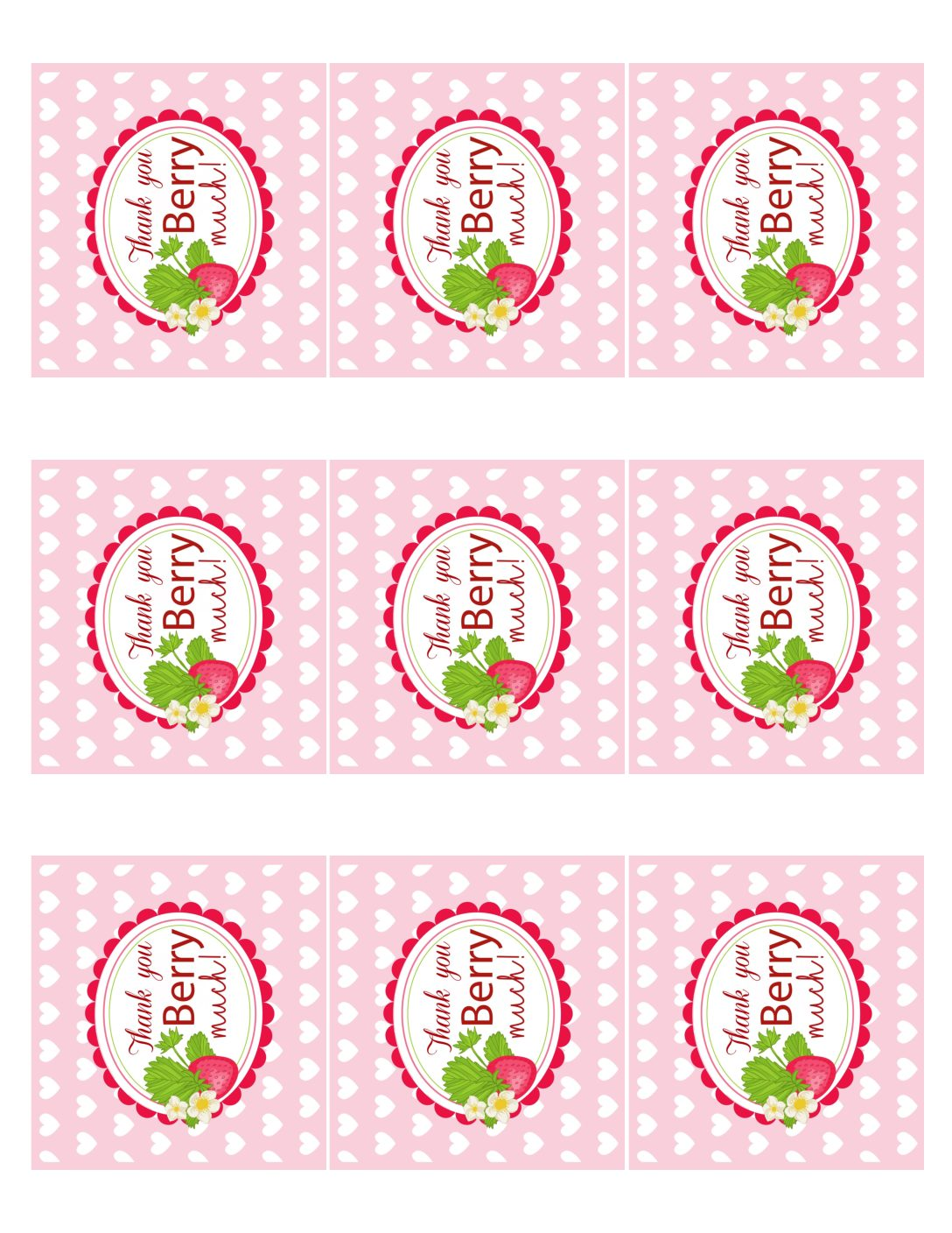 free printable thank you tags for birthdays ; strawberry-valentines-party-thank-you-tags