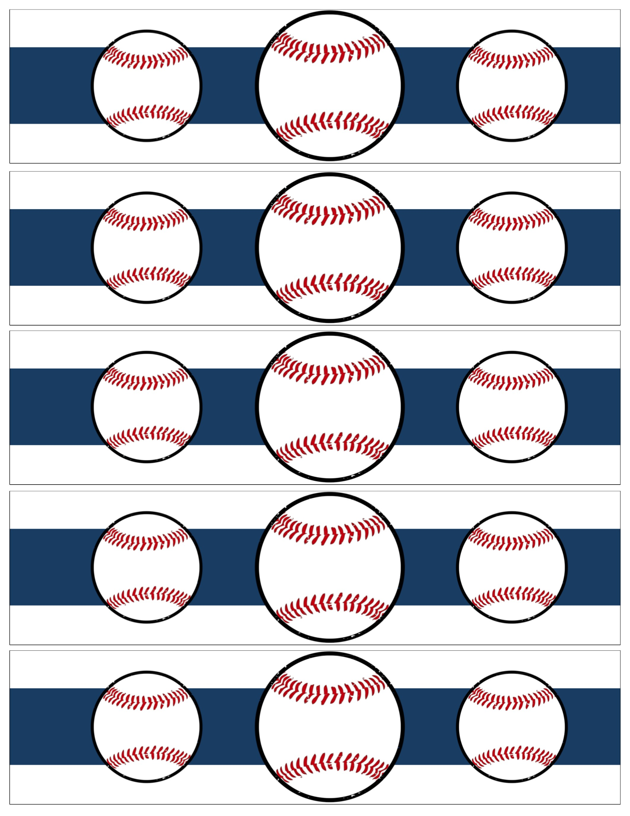 free printable water bottle labels for birthday ; Baseball-water-bottle-wrapper-page