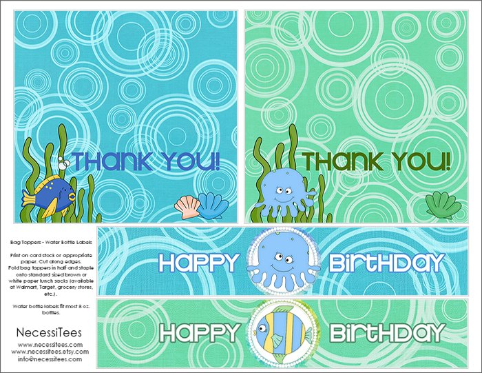 free printable water bottle labels for birthday ; bag-toppers-water-bottles-2