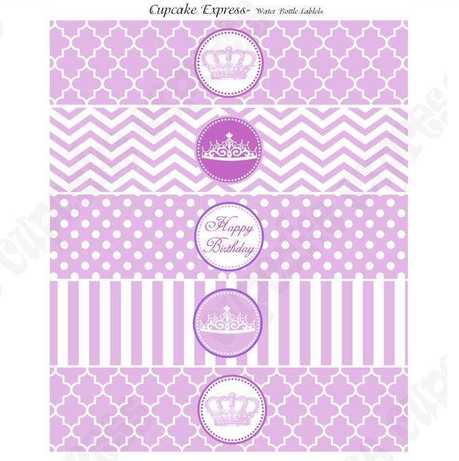free printable water bottle labels for birthday ; purple-princess-printable-birthday-water-bottle-labels-regarding-free-water-bottle-label-template-birthday