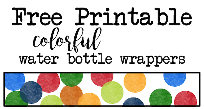 free printable water bottle labels for birthday ; rainbow-water-bottle-wrappers-short