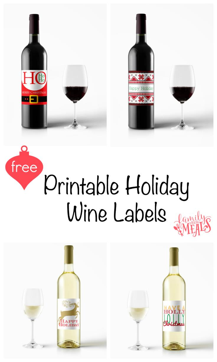 free printable wine labels for birthday ; Free-Printable-Holiday-Wine-Labels-FamilyFreshMeals