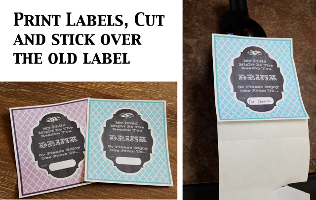 free printable wine labels for birthday ; Stick-Labels