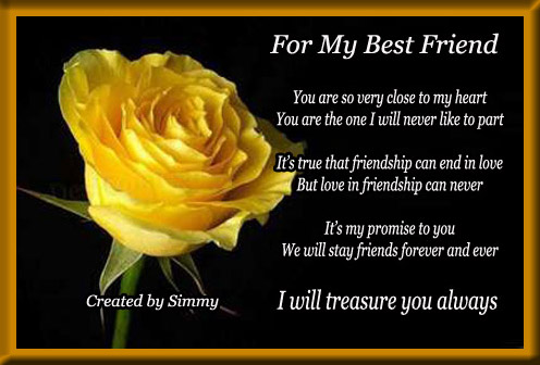 friend birthday greeting card messages ; best-friend-birthday-card-messages-with-one-yellow-rose-completing-with-black-yellow-framed-and-best-wishes-especially-for-girls