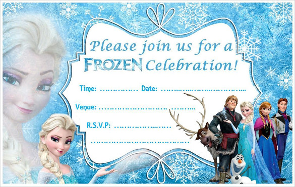 frozen themed birthday invitation ; Cute-And-Simple-Frozen-Birthday-Party-Invitation
