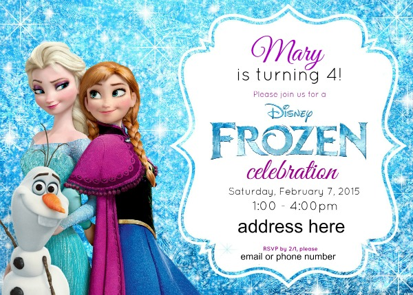 frozen themed birthday invitation ; Frozen-Birthday-Party-Invitations-is-one-of-the-best-idea-to-create-your-Birthday-invitation-with-adorable-design-1