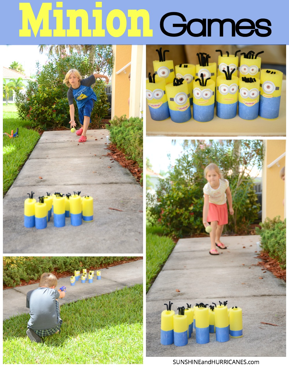 fun activities at birthday parties ; Minion-Games-Collage