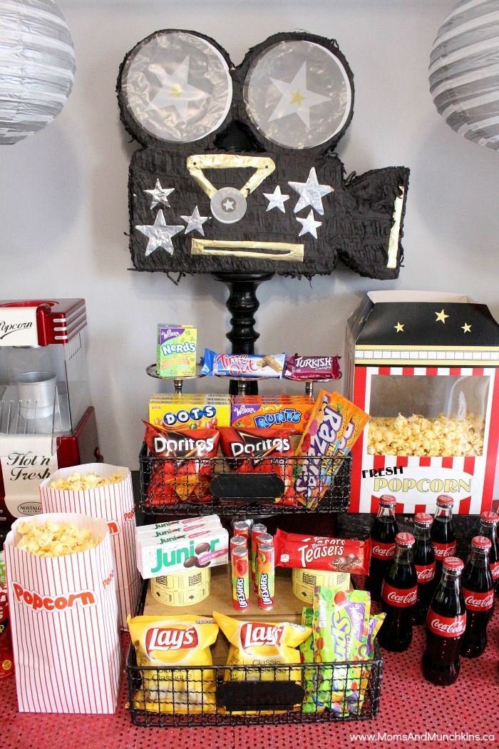 fun activities for birthday parties ; 9c3086c5a32667f1d443c7979b3794c0--movie-birthday-decorations-food-for-birthday-parties
