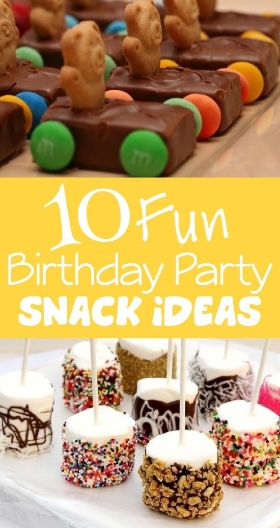 fun activities for birthday parties ; The-cutest-birthday-snack-ideas-for-kids