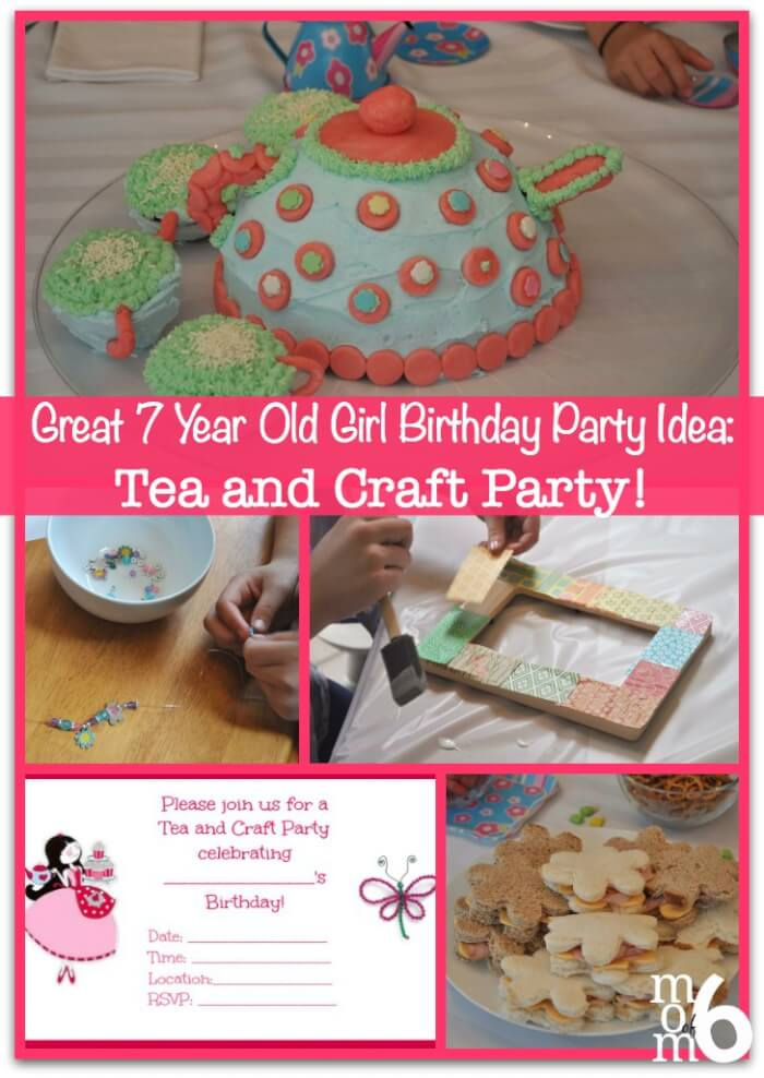 fun activities for birthday parties at home ; Tea-and-Craft-Party-Collage