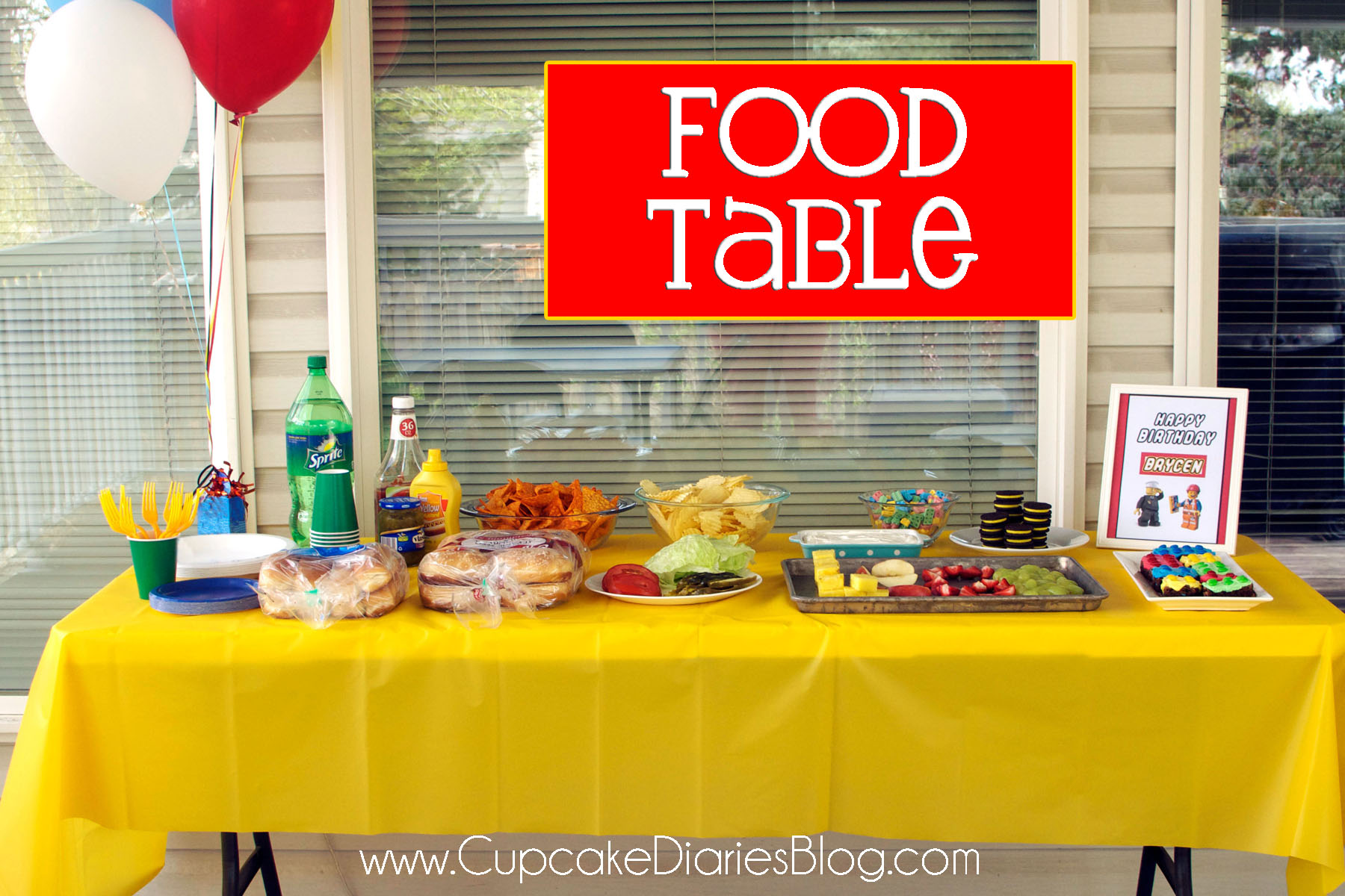 fun activities for kids birthday party ; foodtable1