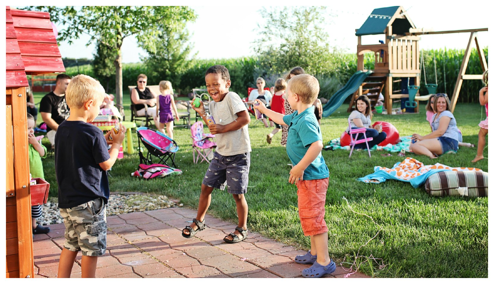 fun activities for kids birthday party ; silly-string