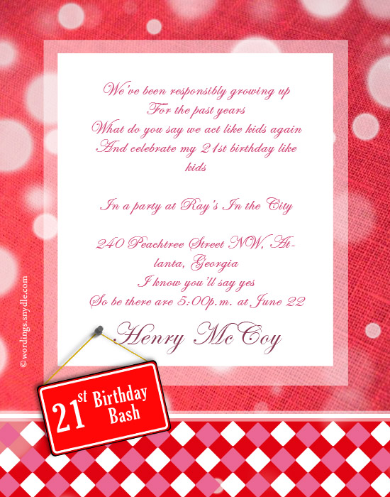 greeting card messages for 21st birthday ; 21-birthday-bash-invitation-wordings
