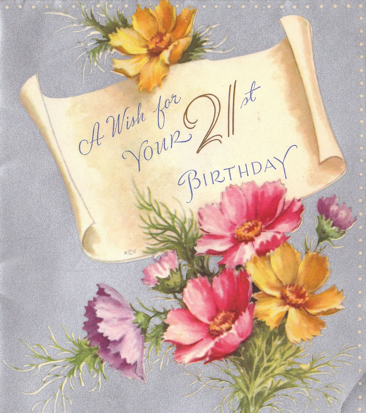 greeting card messages for 21st birthday ; 21st-birthday-flower-1