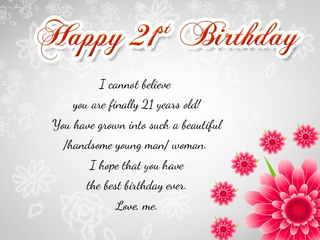 greeting card messages for 21st birthday ; 21st-birthday-wishes-for-son-1-640x480