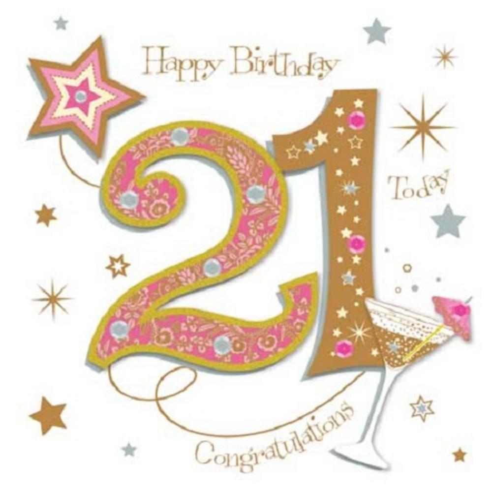 greeting card messages for 21st birthday ; lrgscaleMWER0008_21