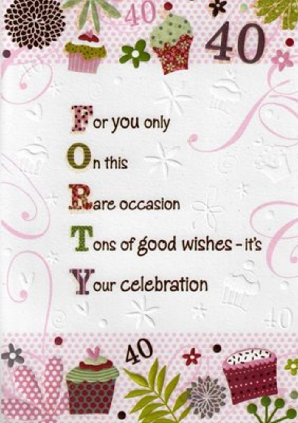 greeting card messages for 40th birthday ; lrgscale6025_1
