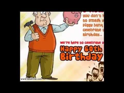 greeting card messages for 60th birthday ; hqdefault