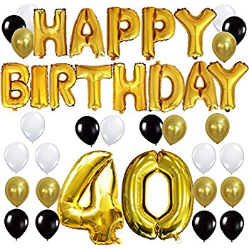 happy 40th birthday printable signs ; 61BE9FEcXDL