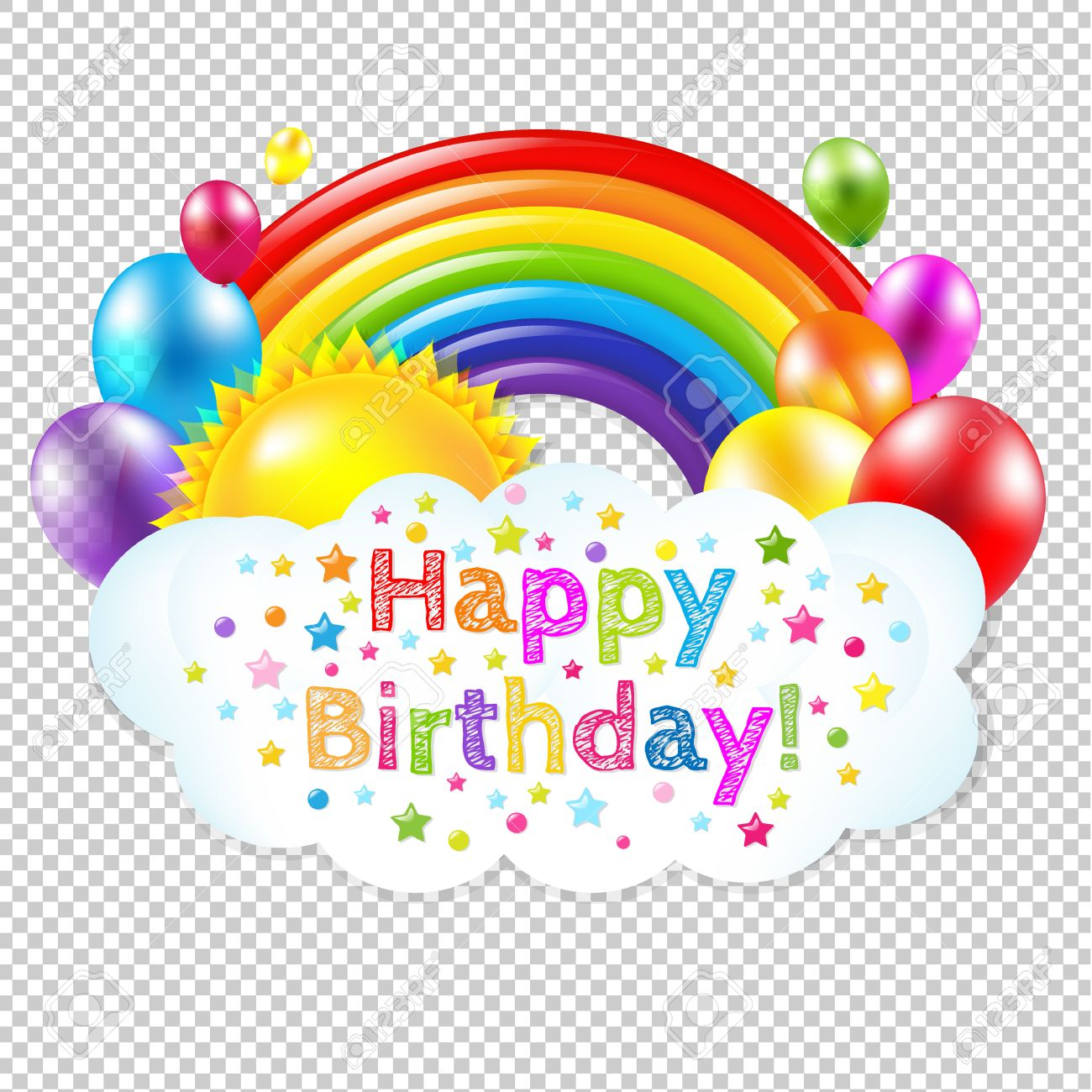 happy birthday banner clipart free ; 57247690-happy-birthday-banner-banner-with-rainbow-isolated-isolated-on-transparent-background-with-gradient--Stock-Photo