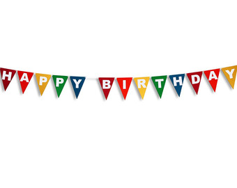 happy birthday banner clipart free ; triangle-clipart-birthday-flag-banner-8