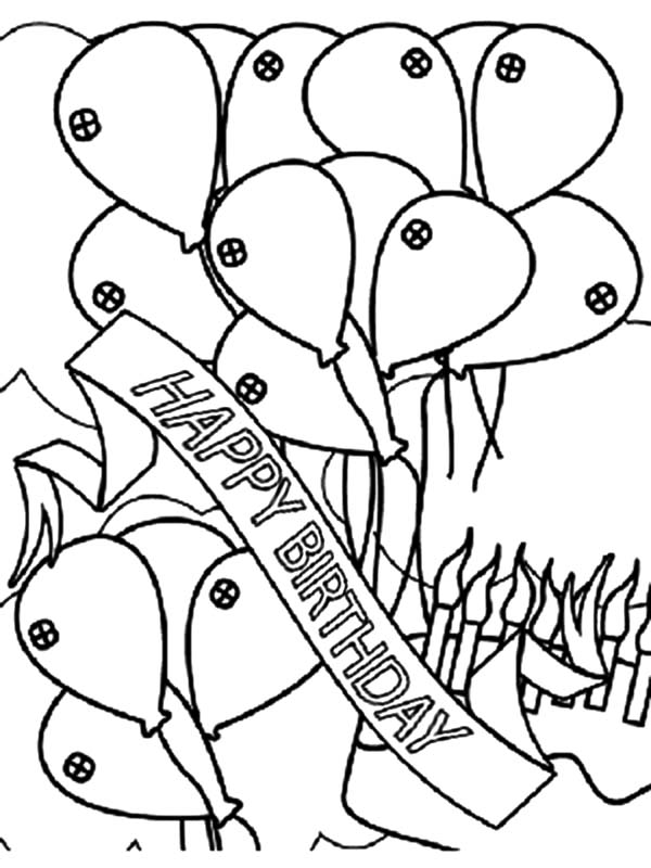 happy birthday banner coloring pages ; Birthday-Banner-and-Balloons-Coloring-Pages