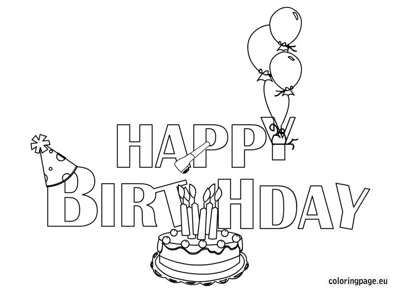 happy birthday banner coloring pages ; dfb122c7c856586f471b6b184518b8f3