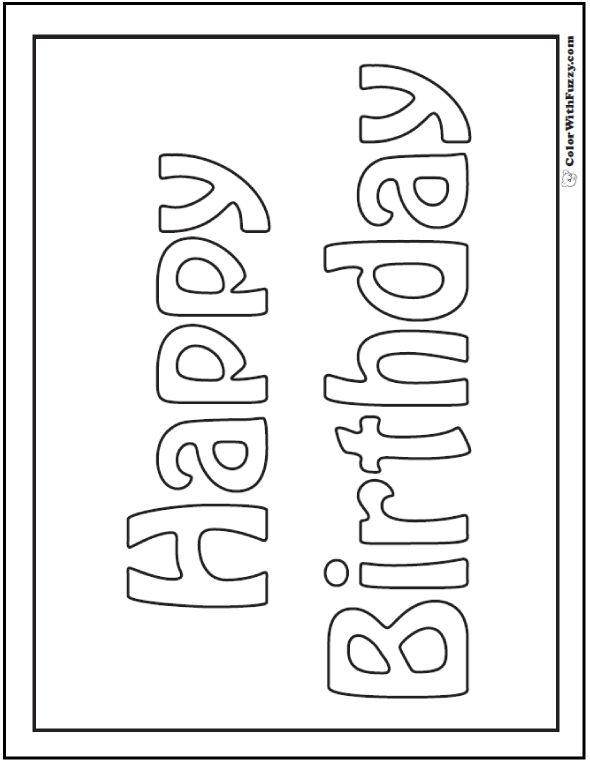 happy birthday banner coloring pages ; neoteric-ideas-happy-birthday-card-printable-coloring-pages-131-best-b-day-s-parties-more-images-on-pinterest