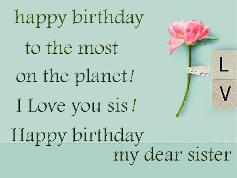happy birthday best wishes message ; Birthday-greetings-for-sister1232
