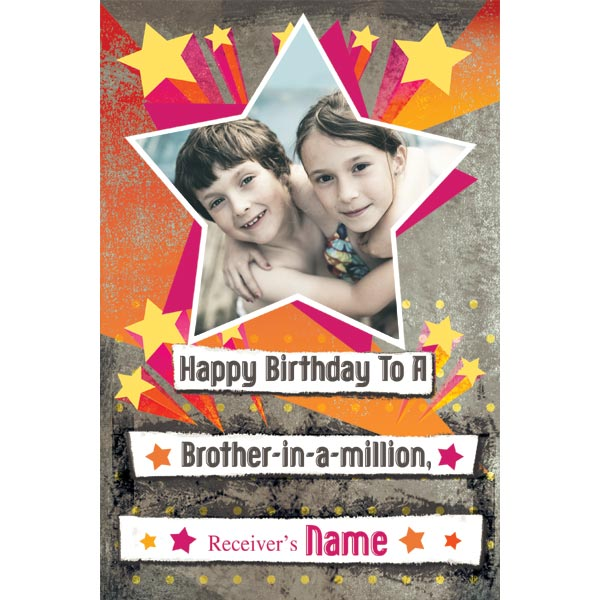 happy birthday brother photo frame ; Personalised_Birthday_Card_PERCARD031_f900123c