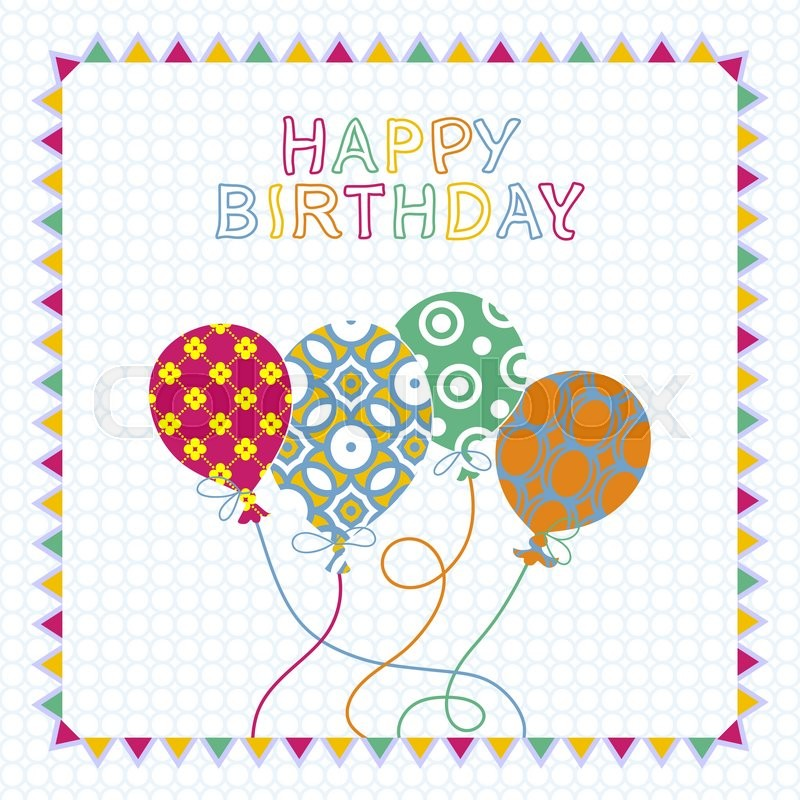 happy birthday card design template ; 800px_COLOURBOX18189612