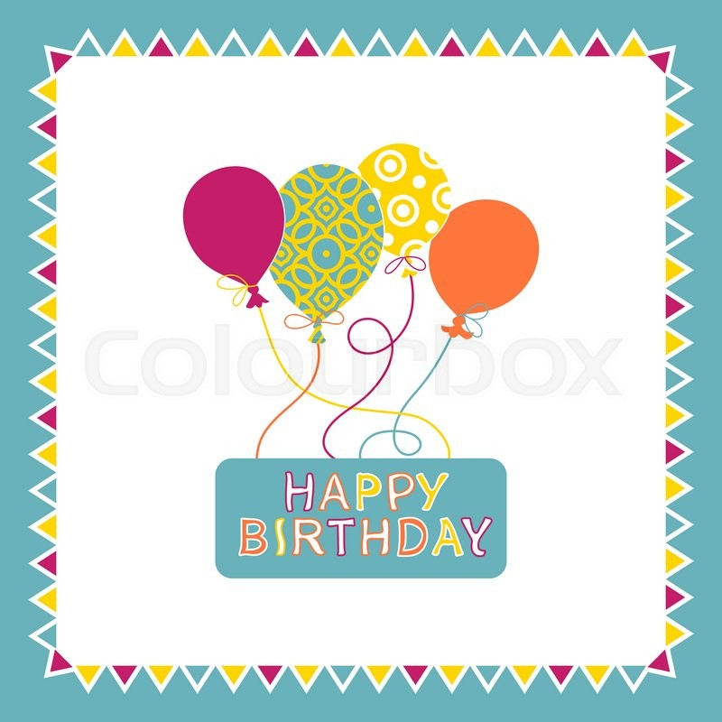 happy birthday card design template ; 800px_COLOURBOX18189619