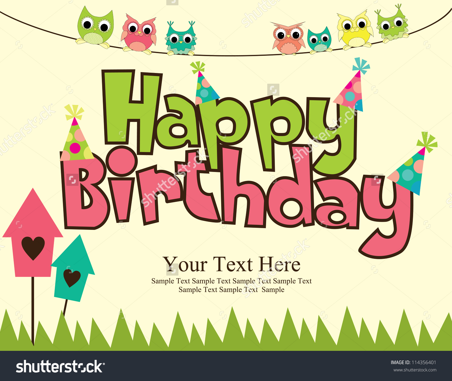 happy birthday card design template ; designs-for-birthday-cards-vector-illustraton-completing-simple-elegant-stunning-model-looked-so-sweet-also-classic-aslo-cute-owl-themed