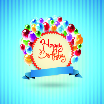 happy birthday card design template ; happy_birthday_card_vector_set_533520