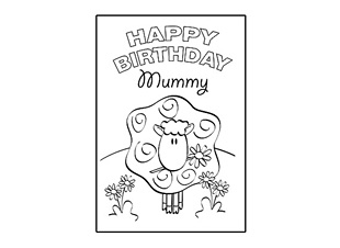 happy birthday card design template ; mum_card