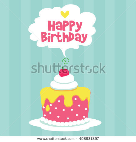 happy birthday card design template ; stock-vector-happy-birthday-card-design-template-with-image-of-birthday-cake-408931897