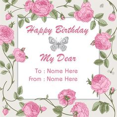 happy birthday card wishes with name ; 1cca1bab6a64513cb709b9fece1cfce3