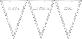 happy birthday coloring banner ; BannerX3W